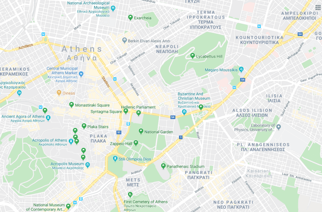 main tourist attractions in athens