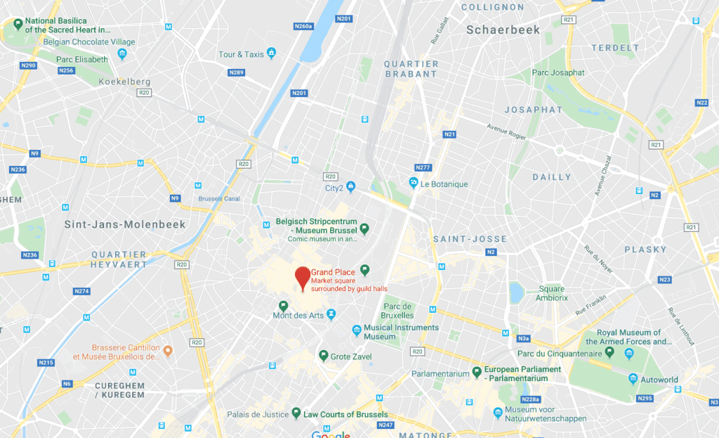 map of attractions_Brussels_travel_guide